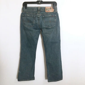 Lucky Brand Dungarees Crossover Crops Jeans 00 24